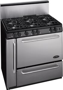 Stainless Steel Propane or Natural Gas Kitchen Ranges from Peerless