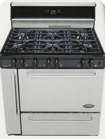 "63"" Natural Gas Range w/ 6 Burners, 24"" Griddle and 2 Ovens, Each"