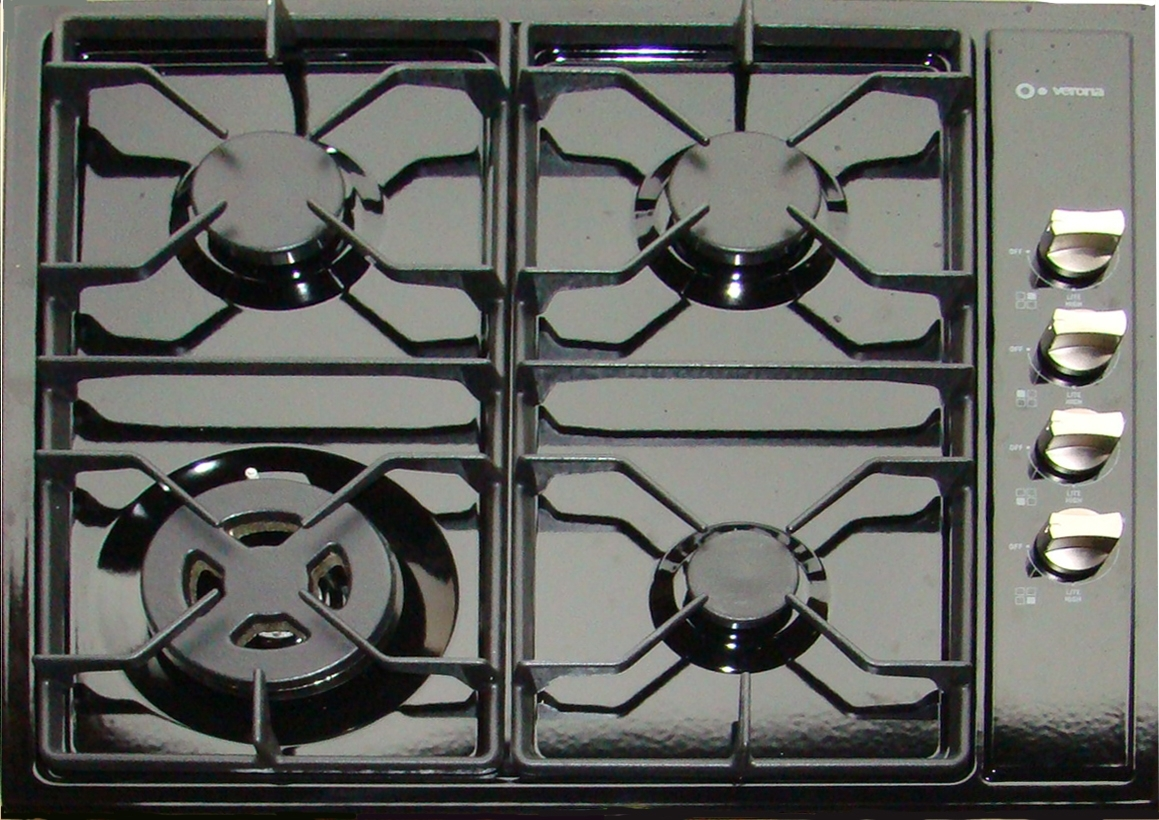 Gas Countertop Stove Tops : LP & natural gas counter top drop in stove burners by Verona